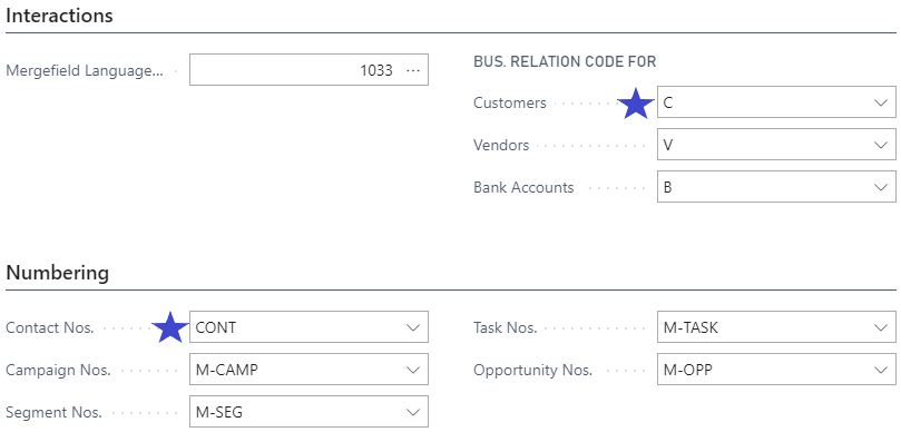 Enabling multiple contacts with marketing setups in Business Central Screenshot