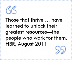 a quote from harvard business review about the importance of employees