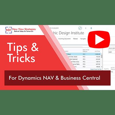 Tips for Dynamics Nav & Business Central